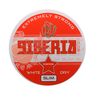 Siberia -80 Degrees White Dry Slim Portionssnus