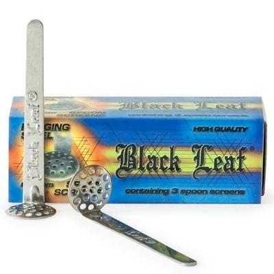 Black Leaf Stainless Steel Spoon Screens