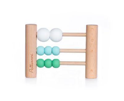 Wooden abacus aqua