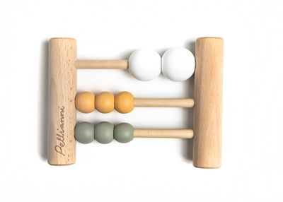 Wooden abacus pastel